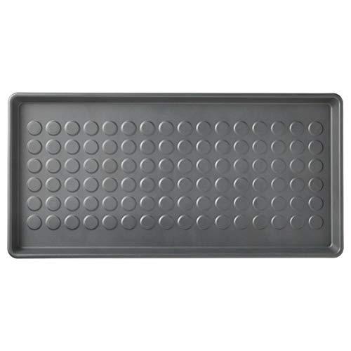 IKEA BAGGMUCK - Bandeja para zapatos, color gris (71 x 35 cm)