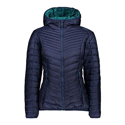 CMP Damen Wasserabweisende Steppjacke mit 3M Thinsulate Featherless 60gr Polsterung Jacke, Blue, D46