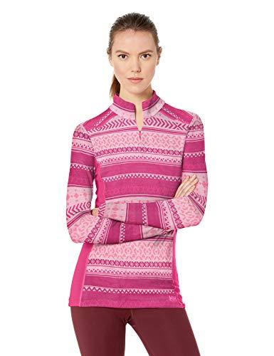 Helly Hansen Mid Graphic 1/2 Zip Sweatshirt Femme Sweatshirt Femme Dragon Fruit FR : XL (Taille Fabricant : XL)