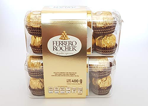 Ferrero Rocher Chocolates 32 pzs Ferrero Rocher Caja Ferrero roche Chocolate Ferrero Rocher Chocolates…