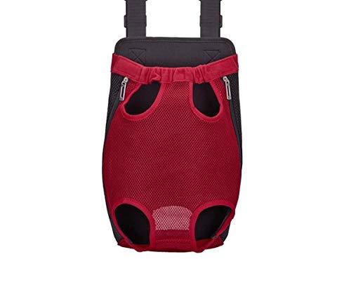 Ducomi Bolsa frontal transportín para perro – Mochila riñonera suave y ligera para perros, gatos y cachorros – Apto para paseos y viajes – Cómoda para animales domésticos (S, rojo)