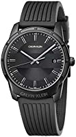 Calvin Klein K8R114D1 Mens Quartz Watch, Analog Display and Rubber Strap - Black