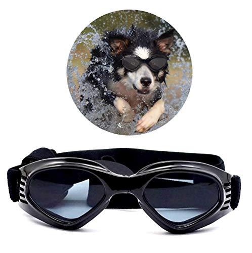 Voarge Stilvolles und Fun Tier/Hundewelpen UV-Schutzbrillen Sonnenbrille Wasserdichten Schutz Sun-Brille Fuer Hunde, Hunde Sonnenbrille Verstellbarer Riemen
