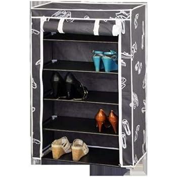 Kit Closet 4090042005, Scarpiera, 5 ripiani, in stoffa