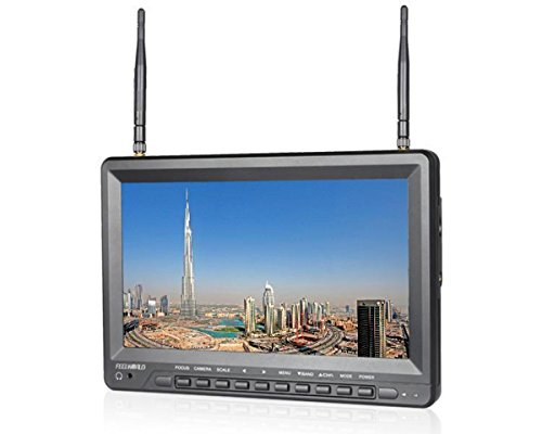 Feelworld FPV1032 10.1 Inch 1024x600 IPS HD Screen FPV Monitor with Built-in Battery Wireless 5.8G 32CH Diversity Receiver