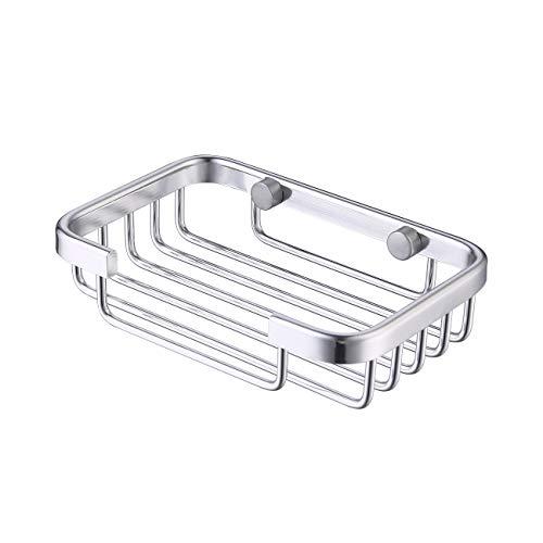 KES Jabonera Ducha de Pared Jabonera Baño para Jabón Esponjas de Baño, Cocina Aluminio, A4040