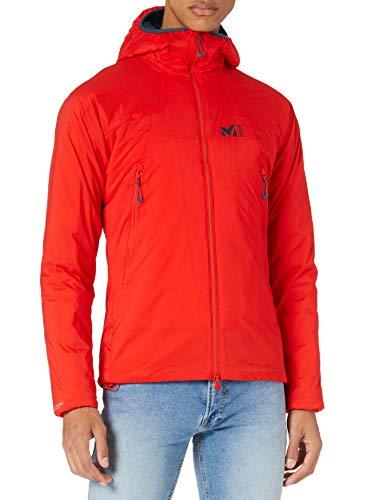 Millet - K Belay Hoodie - Chaqueta Softshell Cortavientos para Hombre - Compresible y Ligera - Alpinismo, Aproximación, Escalada - Rojo