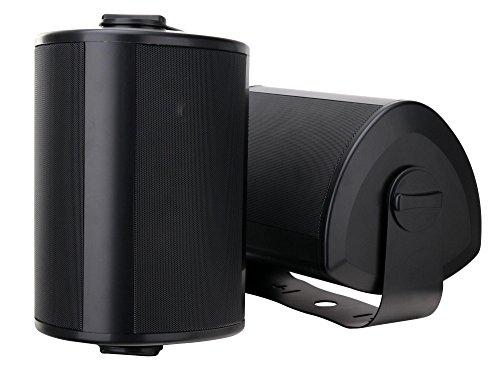 Paar Pronomic OLS-10 BK DJ PA Outdoor-Lautsprecher für Garten, Terrasse, Restaurant (2X 120 Watt, Schutzart IP56, 8 Ohm, 5,25