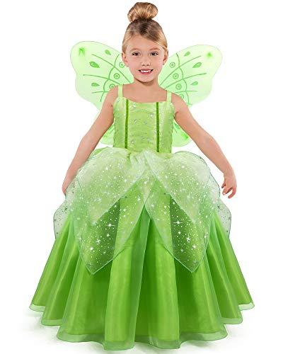 TYHTYM Disfraz de Cenicienta de Princesa de Vestir de Cosplay Disfraz de Fiesta para Nias (Verde, 2-3 aos)