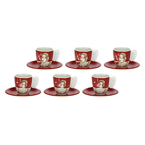 THUN ® - Set 6 tazzine caffè Dolce Natale