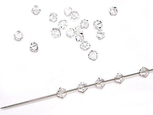 50 ORIGINAL Swarovski® Perlen, Bicone, 4 mm, kristall, SW03