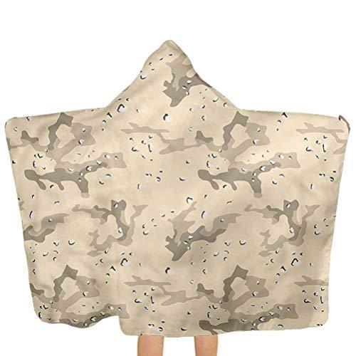 ZHSL Toalla de baño Camo, que se esconde en Desert Camo Toalla premium para niños pequeños con capucha Ultra absorbente e hipoalergénico 51.5x31.8 pulgadas