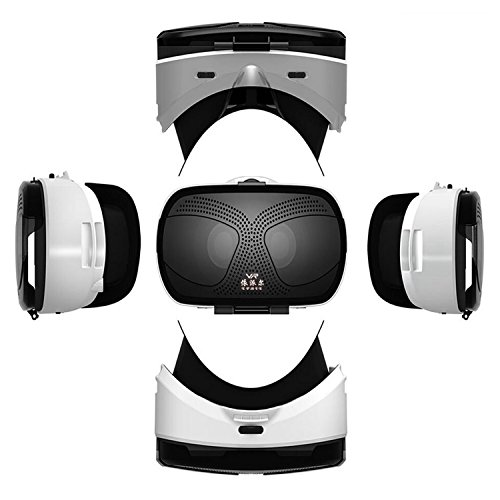 """VR Virtual Reality Headset, 3D VR Glasses for Movies Games VR Headset for Samsung Galaxy S8 S7 Edge S6 S5 Mini iPhone 8 7 6S 6 Plus & Other 4.5-6.0"""" IOS Android PC Smartphones like LG Google Pixel etc"""