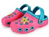 Vorgelen Zuecos Unisex Niños Verano Sandalias de Playa Respirable Antideslizante Piscina Jardín Zapatos Rosado Azul 29 EU=Etiqueta 30