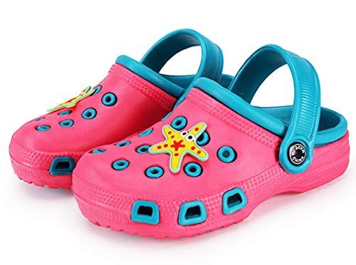 Zoccoli e Sabot Unisex Bambini Pantofole Scarpe estive da Spiaggia Sandali Antiscivolo Scarpe da Giardino per Ragazzi Ragazze Rosa Blu 33 EU=Etichetta 34
