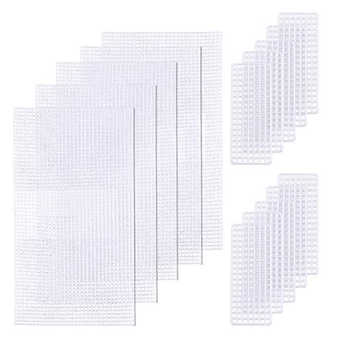 CHGCRAFT 5 Imposta Fogli di Tela di Plastica a Rete Accessori per Borse Fai da Te per Borsa Artigianato Fai-da-Te Ricamo a Punto Croce, Creazione di Filati Acrilici, Ricamo su Tela di Plastica
