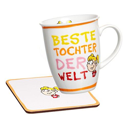 Ritzenhoff & Breker Beste Becher Kaffeebecher, Tasse, Motiv: Beste Tochter, Orange, 24746