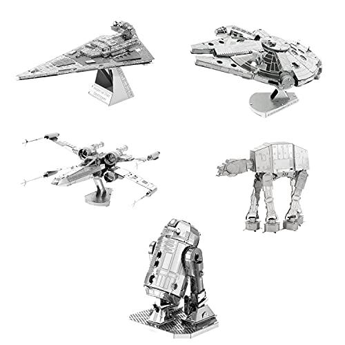 Piece Fun Kit 5 Rompecabezas Metálicos 3D Star Wars y Autos Modelos Pueden Variar A LOS DE LA Imagen