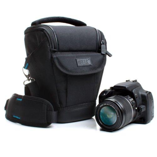 USA Gear DSLR Zoom Custodia Fotocamera,Borsetta Fondina in Neoprene da Trasporto con Cinghia per Macchine Fotografiche reflex - Design Resistente alle Intemperie e Fondo Rigido a Guscio