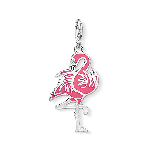 Thomas Sabo Damen-Charm-Anhänger Flamingo Charm Club 925 Sterling Silber 1519-041-9