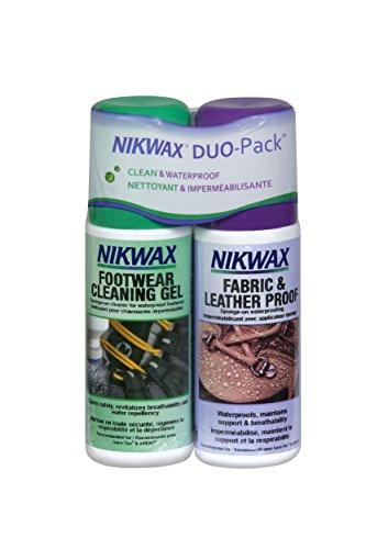 Nikwax Fabric and Leather Footwear Clean/Waterproof DUO-Pack, Sponge-On , 8.4 oz. / 250ml