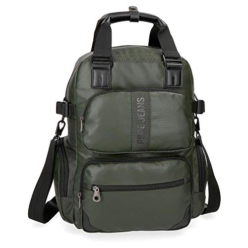 Pepe Jeans Bromley Mochila Tipo Casual, 41 cm, 18.37 litros, Verde