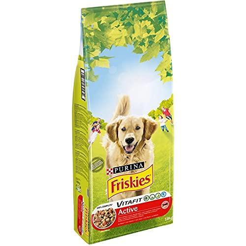 Animalerie FRISKIES - Croquettes Chien Active Riche en Viandes 18Kg - Vendu par Unité