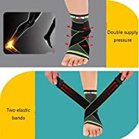 圧縮足首サポートスリーブ、ユニセックスの痛みの軽減、足底筋膜炎、関節炎、回復、弱い、足首の怪我のための医療通気性足首ブレース弾性薄い足ケアスリーブソックス (Color : As Picture, Size : M)