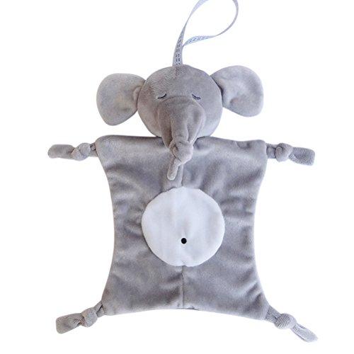 YeahiBaby Doudou di bambino Copertina Neonati di Peluche Baby Comforter (Elefante)