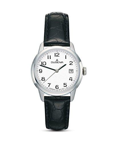 Dugena Damen Armbanduhr Vega Leder 29mm schwarz/weiß