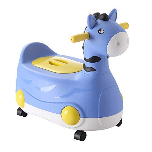 Potty Training Seats Tipo di cassetto Maschio e Femmina Bambino Toilette Bambino Scooter Bambino Vasino Toilette Accovacciata,Blue