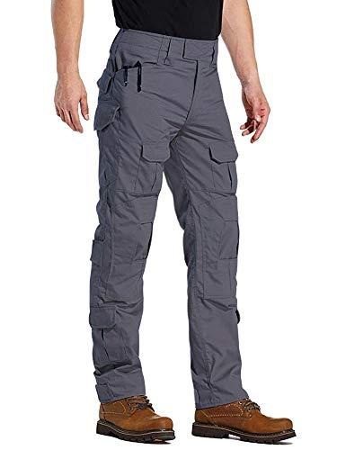 TRGPSG Pantaloni Tattici Militari da Uomo Pantaloni Cargo mimetici BDU Casual Pantaloni da Lavoro Multi Tasche Trekking Impermeabile Pantaloni da Caccia Militari Tattici Pantaloni WG3F Gray