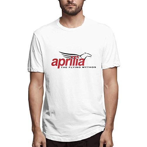 Cooles Aprilia Motorcycles Logo Mode T-Shirt 100% Baumwolle für Mann Schwarz