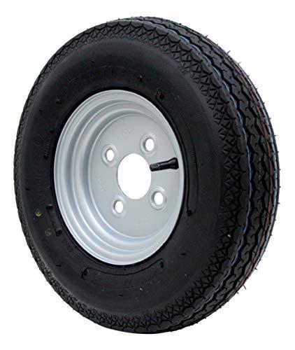 p4U DDR Stema Anhänger Deli Reifen Ersatzrad 4.00-8/4.80-8 4PR 62M Rad 8 Zoll Komplettrad Räder 4,80-8/4,00-8