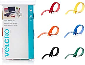 VELCRO Brand ONE-WRAP Cable Ties | 60Pk | 8 x 1/2