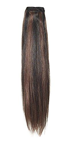 American Dream original de qualité 100% cheveux humains 45,7 cm soyeuse droite trame Couleur 2/33 – Brun Foncé/cuivre Riche