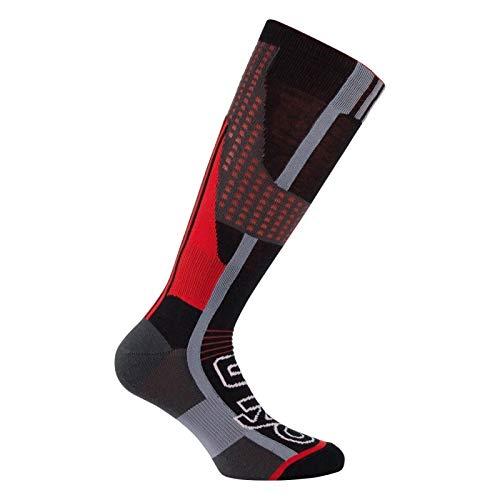 Thyo - Mi-bas Nordic Light spécial raquettes et ski de fond - couleur - Noir rouge - Pointure - 35-37