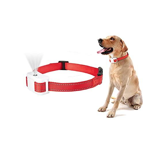 Bikirin Verbessertes Antibell Halsband, Automatisches Bell-Halsband mit Spray (USB Wiederaufladbares), No Harm Anti-Barking für Große, Mittelgroße und Kleine Hunde