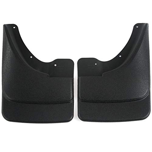 Red Hound Auto Front Molded Mud Flaps Compatible with Dodge Ram 1500 (w o Fender Flares)