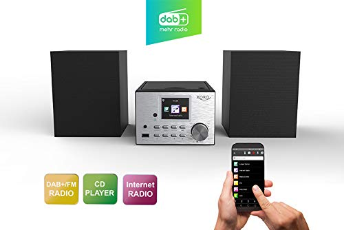 Xoro HMT 500 - Micro System Internet-/ DAB+/FM-Radio, CD Player, Bluetooth, Mediaplayer, 2.4
