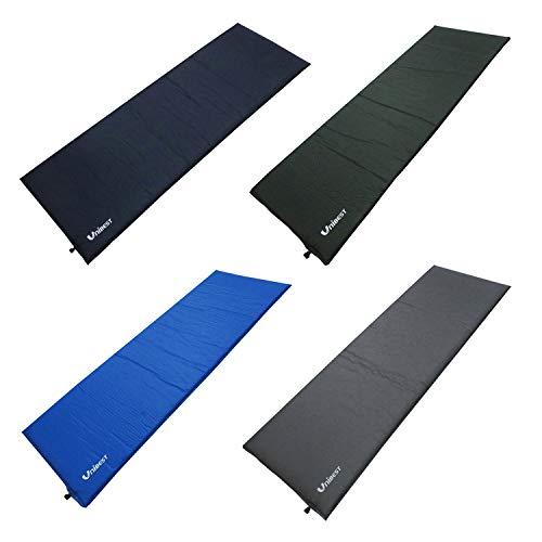 Unibest Selbstaufblasende Luftmatratze Isomatte Luftmatte Einzelperson 202x70x5cm - dunkelgrün