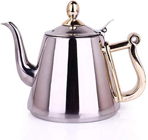 Yruog Teteras Tetera de acero inoxidable Tetera de té Tetera de acero inoxidable Tetera de café Tetera plana de acero inoxidable Cocina de inducción Tetera especial Tetera pequeña Tetera de burbuj