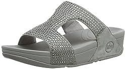 Silver Nova Rokkit Crystal Slide Sandal