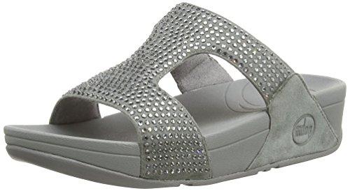 Fitflop Damen Rokkit Slide Sandalen, Silber (Silver Nova), 39 EU