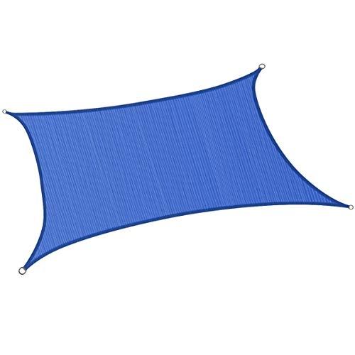 Cabilock Movtotop Toldo Vela Vela Fortalecer Anti-UV Sombrilla Refugio Toldo Exterior Toldo para Patio Jardín Patio