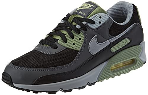 Nike Herren AIR MAX 90 Laufschuh, Oil Green Lt Smoke Grey Black Iron Grey Lt Zitron, 44 EU