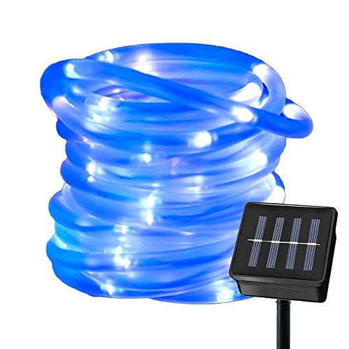 Premium Accionada solar del tubo de la cuerda Luces de la secuencia 5/10 / 20M de Gaza Se ilumina la luz Decoración de Navidad a prueba de agua del banquete de boda del jardín La seguridad