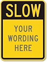 ドアの行為の役割は味付けされた遅い蛍光黄色、面白い鉄の絵の装飾警告サイン吊り下げアートワークポスターバーパーク