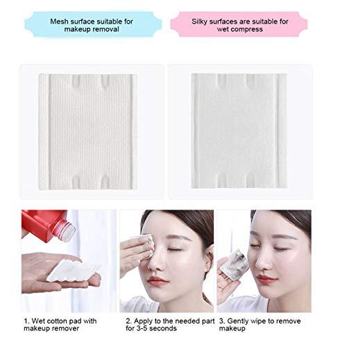 Desmaquillador Almohadillas desmaquillantes de algodón aptas para la piel para pieles sensibles para rutina de belleza para mujeres para viajes