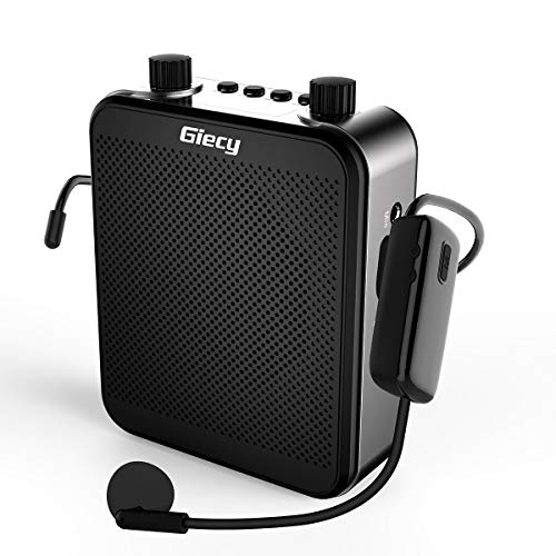 Giecy Voice Amplifier Wireless Personal with UHF Microphone Headset...